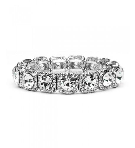 Mariell Vintage Crystal Stretch Bracelet