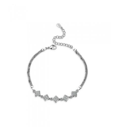 Sterling Zirconia Adjustable Bracelet Jewelry