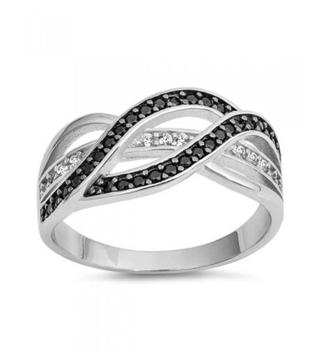 Sterling Simulated Diamond Gemstone Infinity