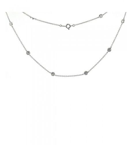 Sterling Silver Zirconia Diamond Necklace