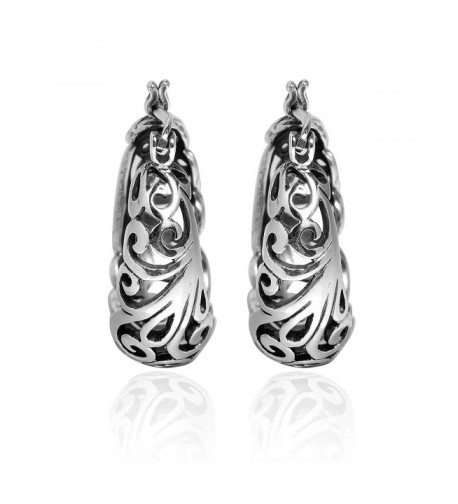 Graceful Swirls Sterling Silver Earrings