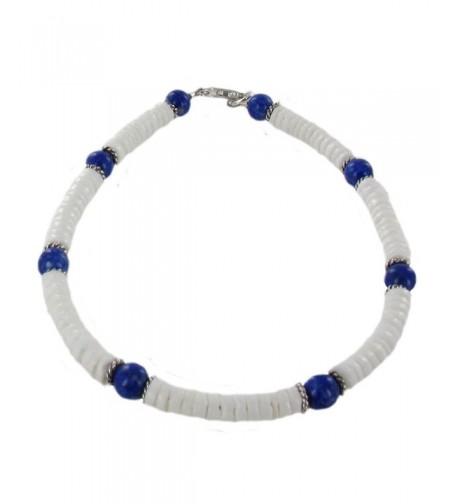 Womens Clamshell Lazuli Sterling Gemstone