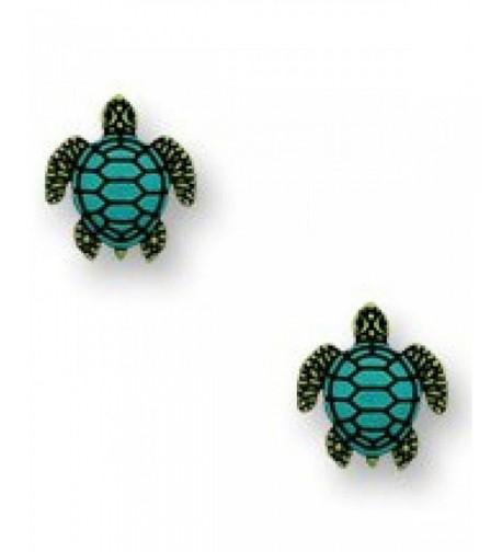 Green Turtle Earrings Sienna Sky