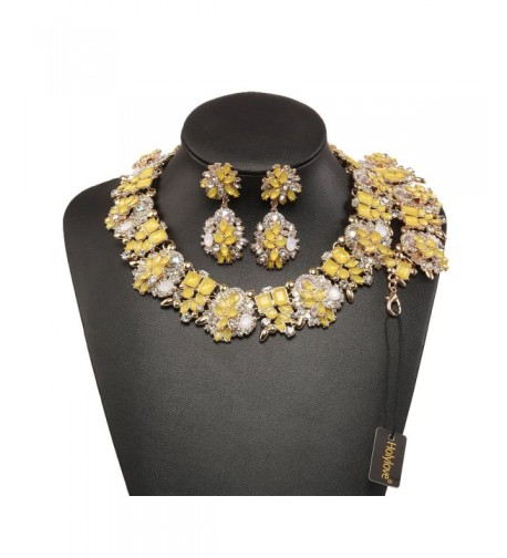 Holylove Statement Necklace Bracelet Yellow 8041BE