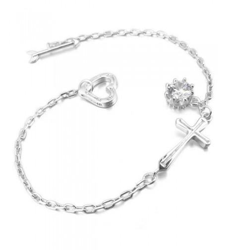 INBLUE Womens Sterling Silver Bracelet