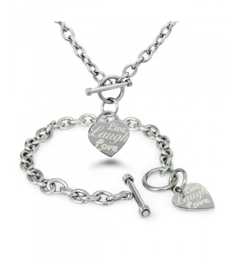 Stainless Steel Engraved Bracelet Necklace