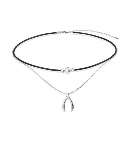 Sterling Silver Wishbone Choker Necklace