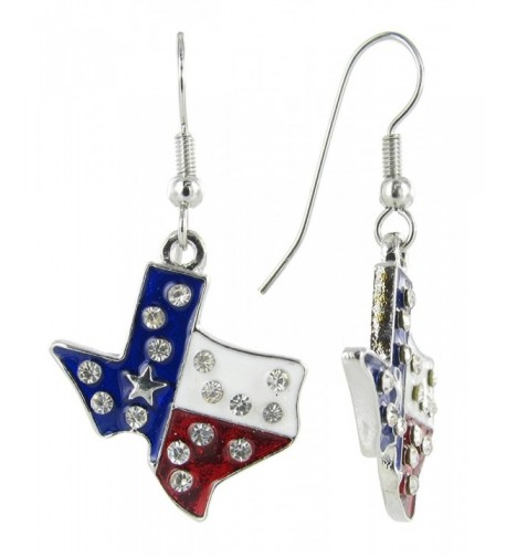 Patriotic Lone State Texas Earring