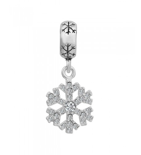 LovelyCharms Sterling Snowflake Pandora Bracelets