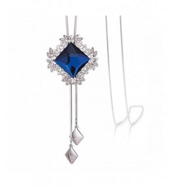 Merdia Necklace Rhombus Pendant Glass 20