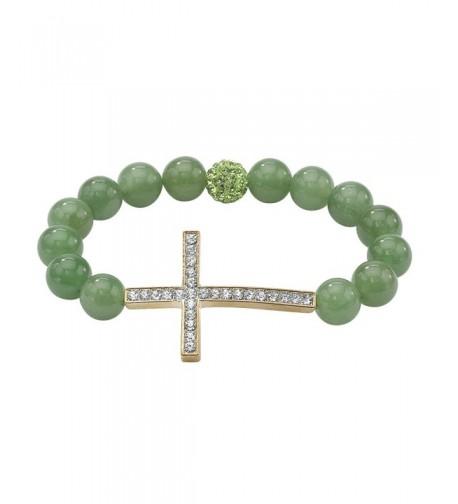 Horizontal Stretch Bracelet Genuine Crystal