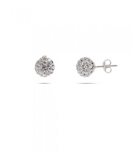 Sparkling Crystal Sterling Silver Earrings