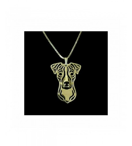 Jack Russell Terrier Necklace Gold Tone