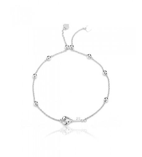 Sterling Silver Adjustable Bracelet Heart