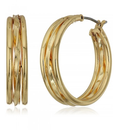 Napier Classic Gold Tone Layered Earrings