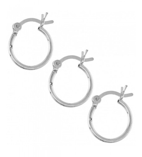 Sterling Silver Earrings Post Snap Closure