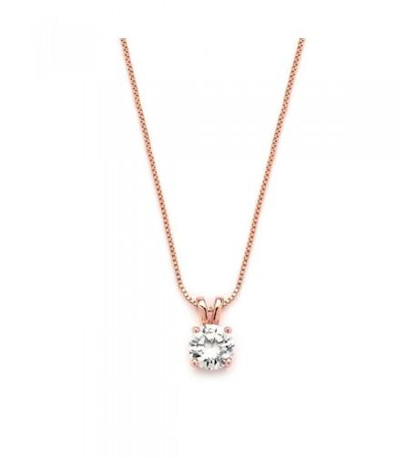 Mariell Luxurious Round Cut Zirconia Necklace