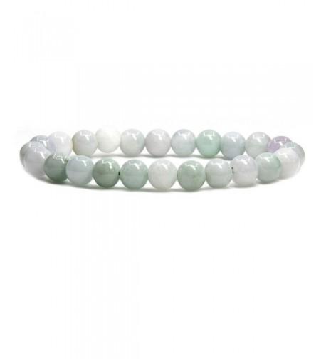 Green White Jadeite Precious Gemstone Bracelet
