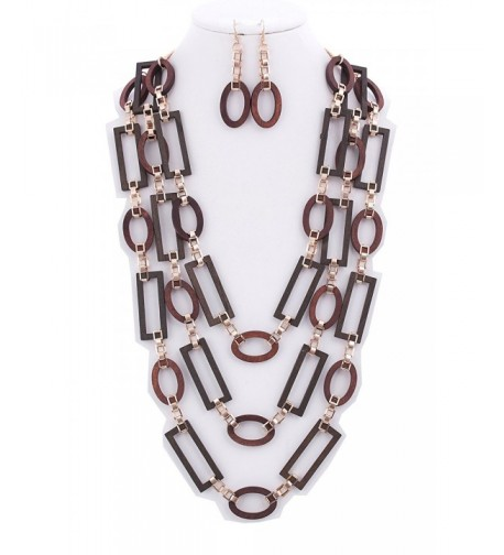 StyleNo1 FASHIONABLE 3 LAYER NECKLACE EARRINGS