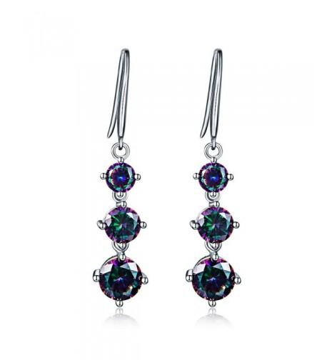 Mystic topaz Earrings Rainbow Zirconia DE0092M