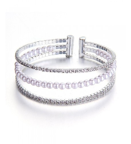 YUXI Crystal Bracelets Multilayer Bridemaids