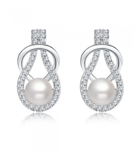 Silver Crystal Diamond Fashion Earrings