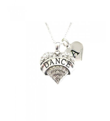 Crystal Dancing Necklace Jewelry Initial