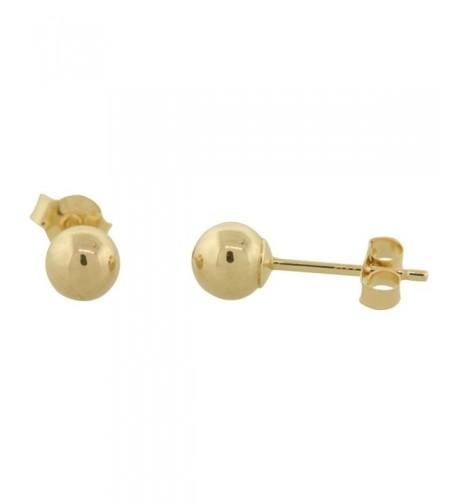 Yellow Gold Ball Earrings Millimeters
