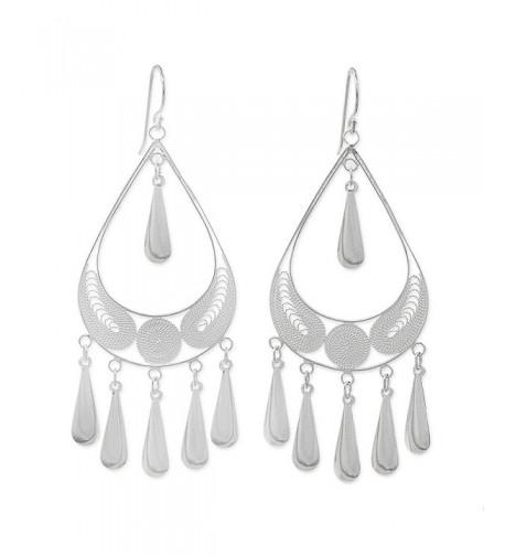 NOVICA Sterling Filigree Chandelier Earrings