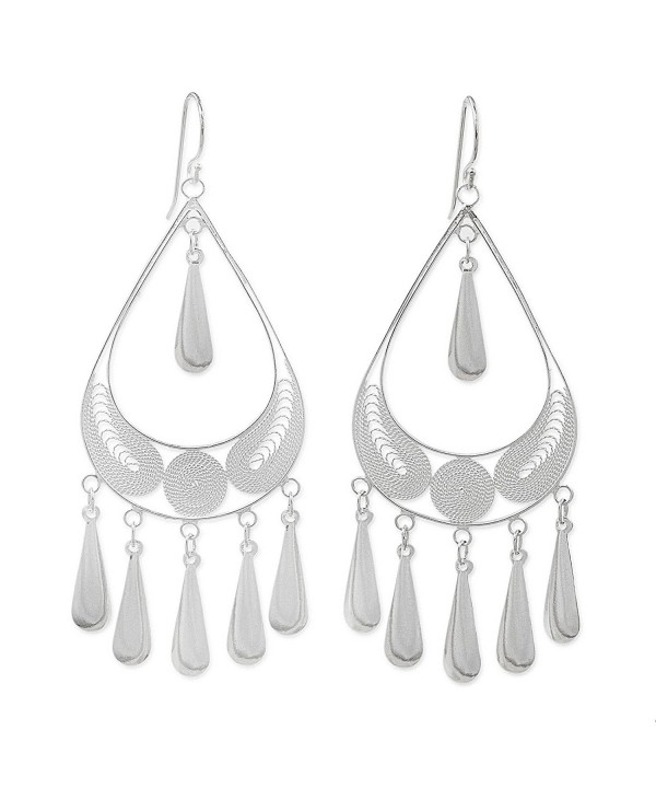 NOVICA Sterling Filigree Chandelier Earrings