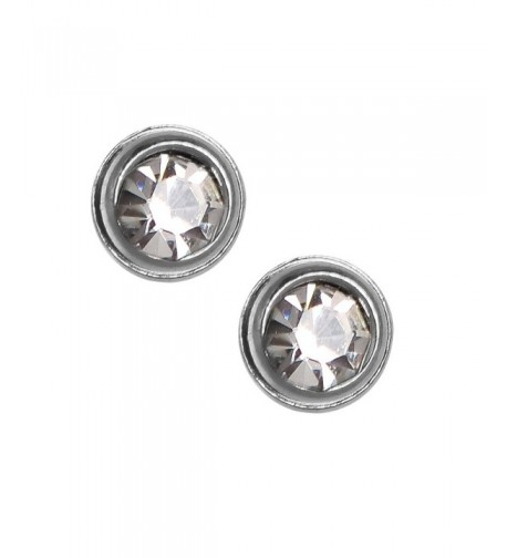Solitaire Earrings Tiny Silver Stainless Jewelry