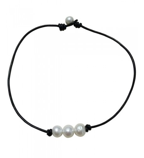 Cultured Freshwater Necklace Genuine Jewelry Black