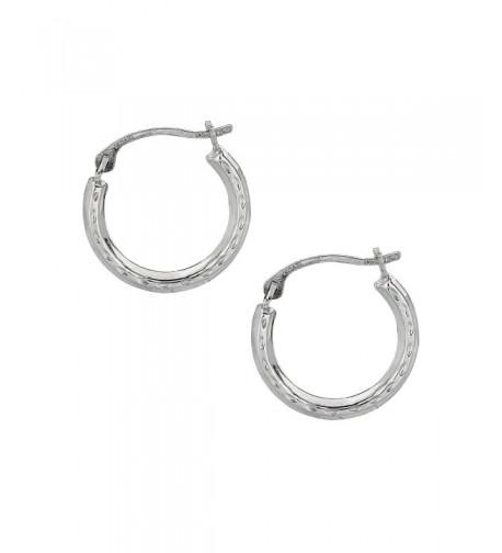 JewelStop White Tubular Round Earrings