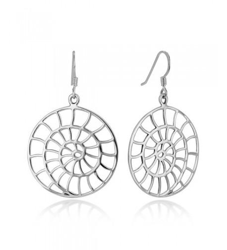 Sterling Filigree Detailed Spiral Earrings