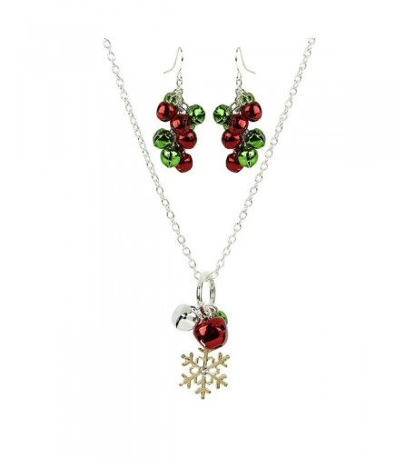 Lux Accessories Snowflake Christmas Necklace