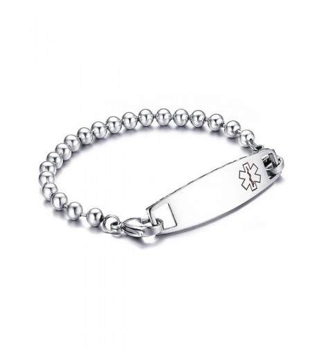 Engraved Stainless Surgical Medical Bracelets