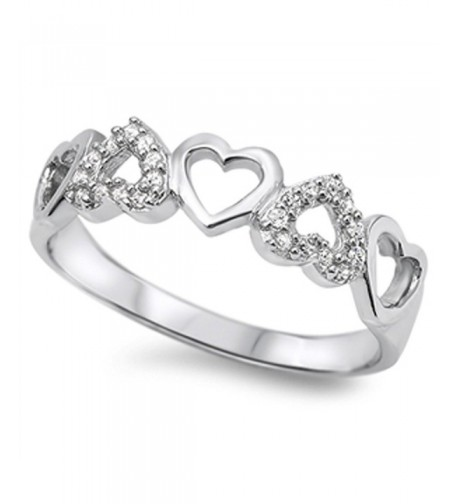 White Heart Cutout Sterling Silver