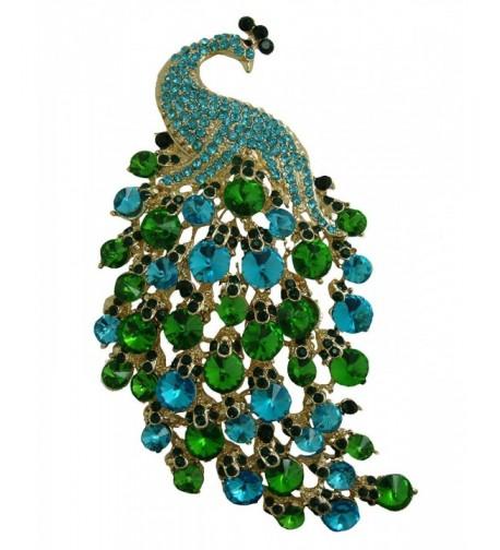 TTjewelry Nouveau Gorgeous Peacock Rhinestone