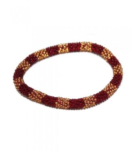Crochet Bracelet Glass Nepal SB350