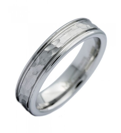 MJ Tungsten Carbide Hammered Polished
