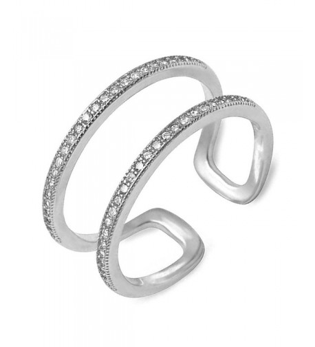 Double Sterling Silver Plain Adjustable