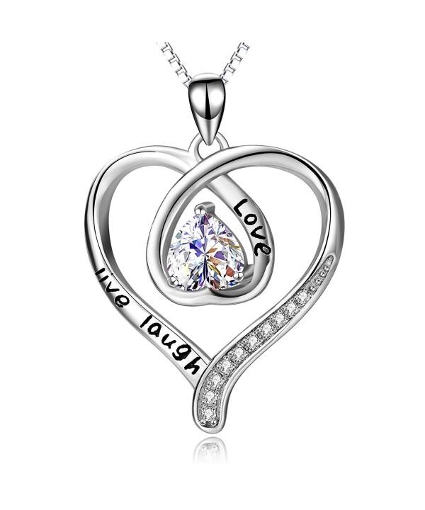 Sterling Silver Laugh Pendant Necklace