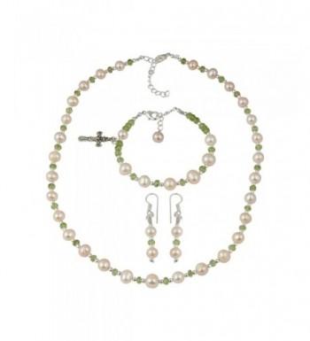 Cultured Freshwater Necklace Earrings Bracelet