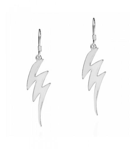 Trendy Zig Zag Lightning Sterling Earrings
