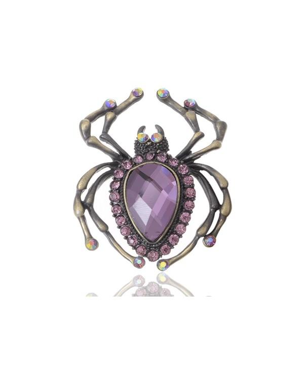 Alilang Amethyst Crystal Rhinestone Acrylic