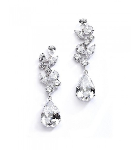 Mariell Wedding Earrings Pear Shaped Teardrops