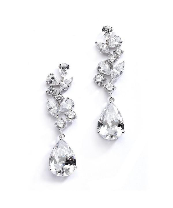 Mariell Wedding Earrings Pear Shaped Teardrops