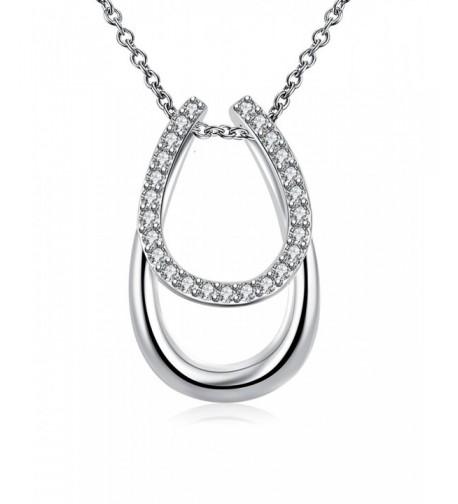 Godyce Horseshoe Pendant Necklace Sterling