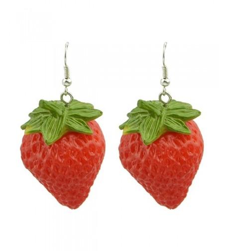 Feelontop Fashion Strawberry Earrings Jewelry