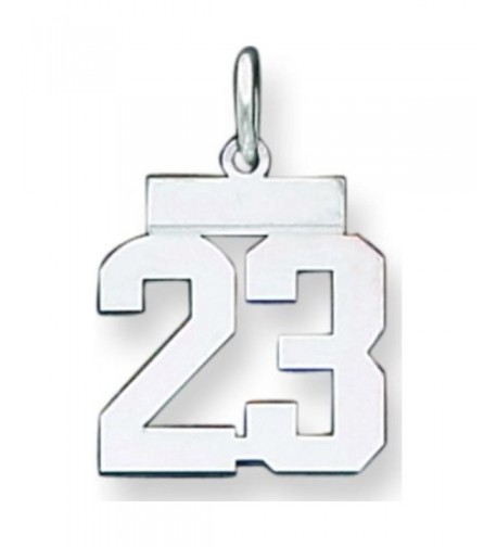 Sterling Silver Polished Number Pendant
